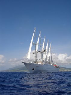What a beautiful sailing ship. Have you experienced Wind Surf or any of the Windstar Cruises' fleet? This photograph was taken in the Caribbean, but I've also sailed Windstar in the Med. What's been your favorite sailing experience? Read more about Windstar Cruises on avidcruiser.com