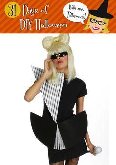 31 Days of DIY Halloween - Lady Gaga Costume