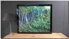 Schilderij Kleurrijk bos