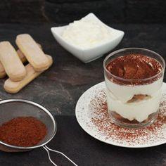 Mijn variatie op een echt klassiek Italiaans dessert : Tiramisu in glaasjes