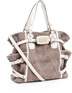 Amazon.com: Michael Kors Gansevoort Large NS Tote Hemp Vanilla Hand Bag: Clothing