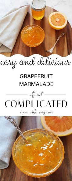 Enjoy making your own condiments from seasonal produce and try our Grapefruit Marmalade. Marmalade is a favoured preserve on many breakfast tables. It is easy to appreciate that this zesty, tangy preserve is a great way to start the day.#marmalade #grapefruitmarmalade #preserves #homemadepreserves #grapefruitrecipes #ediblegift #cravecookconsume #itsnotcomplicatedrecipes