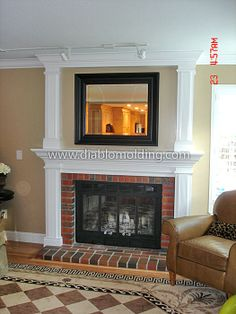 DIABLO Molding and Trim Company, Quality Home Improvement Solutions - Fireplaces Fireplace Molding, Stone Fireplace Surround, Fireplace Remodel, Modern Fireplace, Fireplace Mantle, Fireplace Design, Wood Mantels, Moldings And Trim, Diy Molding