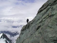 On the Pyramid Summit of Sulphide Glacier, Mt. Shuksan, WA by Stephane Fitch