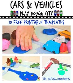In this post, you will see which books we used in our play time as inspiration to create a play dough city for our cars and vehicles. Be sure and grab your free printable templates so you and your little ones can create your own awesome play dough city!