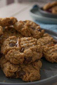 Diese Kekse schmecken einfach genial! Erdnussbutter und Salzbrezel in nur einem Keks! Süß trifft auf salzig - diese Cookies machen definitiv süchtig!