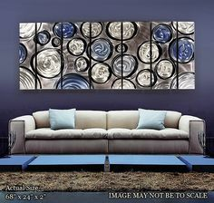 Accent wall art, abstract, one large canvas or multiple
