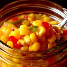 Corn Relish - This delicious corn relish is SO versatile! Serve it as a side dish OR a topping for tacos, fish, chicken or steak OR simply scoop it up with warm corn tortilla chips! It's that GOOD!!