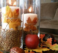 DIY: Fall Candle Decorations