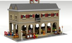 ~~On your next trip to the city visit this market to buy your food, see a working pottery and buy a souvenir of your visit. This model is inspired by the market house in Ross-...