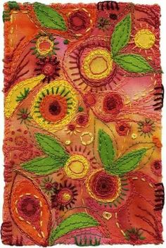 stitched flowers