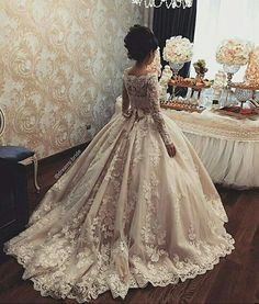 Jun 2019 - Charming Wedding Dresses with Long Sleeves, Bridal Dresses with Appliques · dressydances · Online Store Powered by Storenvy Weeding Dress, Dream Wedding Dresses, Bridal Dresses, Wedding Gowns, Flower Girl Dresses, Bridesmaid Dresses, Flower Girls, Girls Dresses, Princess Wedding