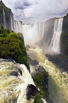 Iguazu Falls / Cataratas del iguazú,Brazil Argentina By GRdeA one of the falls is called the devils throat. Places Around The World, Oh The Places You'll Go, Places To Travel, Places To Visit, Around The Worlds, Beautiful World, Beautiful Places, Beautiful Pictures, Beautiful Waterfalls