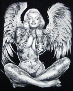 Marilyn Monroe Tattoed Angel Angels Tattoo
