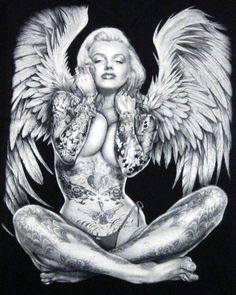 Marilyn Monroe Tattoed Angel Angels Tattoo