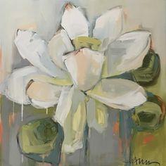 Lotus by Lynn Johnson Abstract Flower Art, Flower Artwork, Plant Painting, Large Painting, Magnolia Paint, Lynn Johnson, Art For Art Sake, Oeuvre D'art, Art Inspo