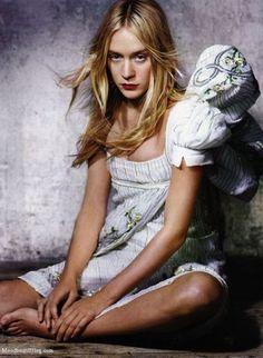 Chloë Sevigny, Harper's Bazaar, April 2005. Photographer: Peter Lindbergh. Christian Dior, Spring 2005 Couture.