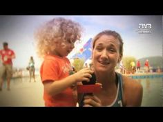 Mother and athlete - Kerri Walsh.  Kerri is a super player and a super mom!  Watch this video from FIVBHeroes.com.