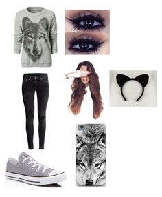 """""""Wolves:)"""" by kaywolf ❤ liked on Polyvore featuring H&M and Converse"""
