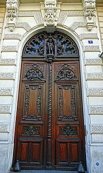Old Artistic Wooden Door In Paris, France by Richard Rosenshein