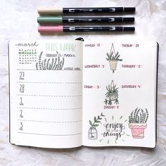 "302 Likes, 16 Comments - s a b i n a (@girlwithabujo) on Instagram: ""Finally found some time to do my spread for the first week of March. As you can tell I changed up…"""