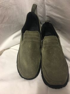 af033c3ba5931 LL BEAN Suede Slip-on WOMENS 7.5 M GREEN QUALITY SHOE #fashion #clothing