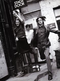 """""""A Life in The Theatre""""  Kate Moss,Fenn and Piersby Bruce Weber for Vogue Italia October 1996"""