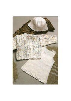 Pigesæt strikket i Mayflower Cotton 8/4 opskrift