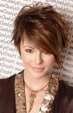Women Hairstyles : Pretty Short Asymmetrical Bob Hairstyles Side ...like the color not the cut for me Hairstyles For Fat Faces, Cute Hairstyles For Short Hair, Hairstyles Haircuts, Pixie Haircuts, Funky Haircuts, Famous Hairstyles, Celebrity Hairstyles, Modern Hairstyles, Ladies Hairstyles