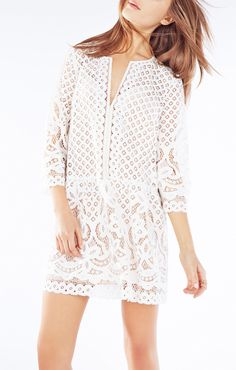 BCBG Laurice Floral Lace Tunic Dress $298 (worn by Gal Meets Glam)
