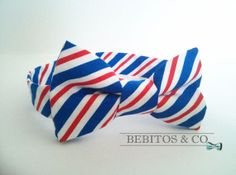 Boys Bow Tie,  Red White and Blue Bow Tie, Preppy Bow Tie, Bowties, Boy's bow tie