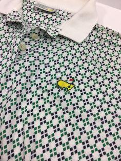 f657741d Details about Vintage Mens SLAZENGER AUGUSTA NATIONAL MASTERS White Polo  Golf Shirt L