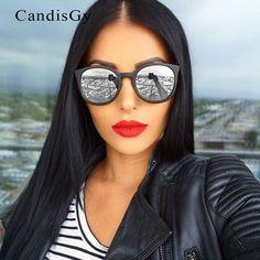 92d1721114 Special offer Classic Vintage Cat Eye Mirror Sunglasses Brand Designer  Metal Frame Eyewear Men Or Men