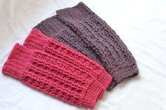 Barre Basics Legwarmers -free crochet pattern-http://epiphanypilates.com/component/k2/item/77-epiphany-pilates-barre-basics-crochet-leg-warmers