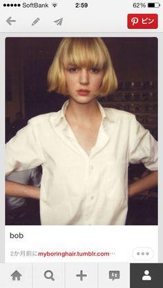 Nice hair hair i want her hair My Hairstyle, Pretty Hairstyles, Bob Hairstyles, Straight Hairstyles, Haircuts With Bangs, Cool Haircuts, Hair Day, New Hair, Grunge Hair