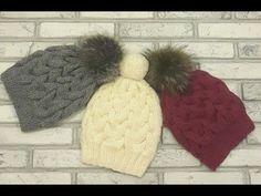 Модная, красивая шапка с косами спицами.Без шва.Вязание спицами. Hat. Вязать легко! - YouTube