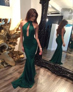 Green Prom Dress,A line Prom Dress,Chiffon Prom Gown,Backless Prom Dresses,Sexy Evening Gowns,Cheap Evening Gown,Open Back Party Dress,Beaded Formal Gowns For Teens