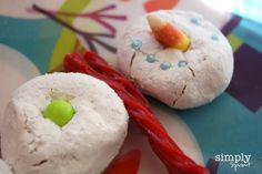 snowman snack perfect for winter fun
