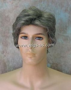 """""""Charles by Wig America - What's great about the Charles Wig from Wig America is that it can be worn by any man. The style keeps it simple, with just enough room for your own touch of personality. The hair is thick, and comes down slightly over the ears. The back of the style is tapered at the neck. T"""""""