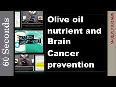 "Olive oil nutrient and Brain Cancer prevention - WATCH THE VIDEO.    *** cancer prevention organizations ***   We briefly review the research "" Olive oil nutrient linked to processes that prevent cancer in brain "" in regard to its possible benefits in cancer prevention. Citation – Oleic Acid Induces MiR-7 Processing through Remodeling of..."