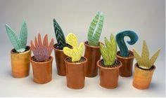clay cacti.