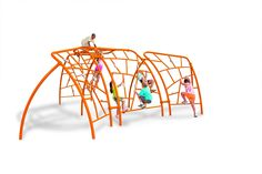 Summit Climbers make a massive statement piece on any playground. The climbing is vertical, horizontal and even inverted!