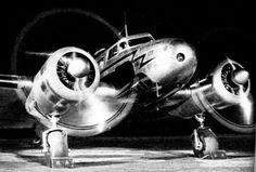 Lockheed Electra at night, circa 1936