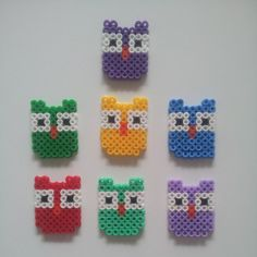 Owls hama perler beads by nalle333