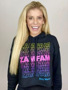 Official Rebecca Zamolo Merch Store - Get ZamFam Merch Here Crop Top Hoodie, Crop Top Sweater, Black Hoodie, Cropped Tops, Black Crop Tops, American Girl Outfits, Hoodie Sweatshirts, Hoodies, Stylish Work Outfits