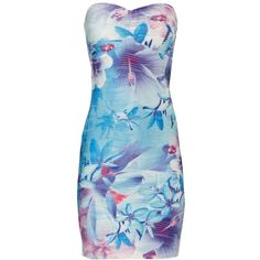 Water Floral Textured Dress ($23) ❤ liked on Polyvore featuring dresses, vestidos, women, sexy dresses, sexy summer dresses, summer day dresses, sexy floral dress and blue floral dress