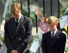 The royal, pictured with brother Harry at Princess Diana's funeral in 1997, said he would ...