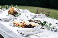 Appetizer board: French soft cheese, honeycomb, figs, roasted almonds, and lavosh  | Camille Styles