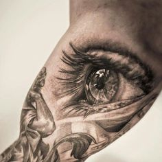 Women Eye Tattoo Designs on Arm, Arm Tattoo of Women Eye, Designs of Women Eye Tattoos, Gorgeous Women Eye Design Tattoos