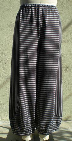 Gray/Cream+Striped+Bumper+Pant+MyGreatShapes